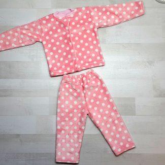 Пижама евромахра розовая в горох