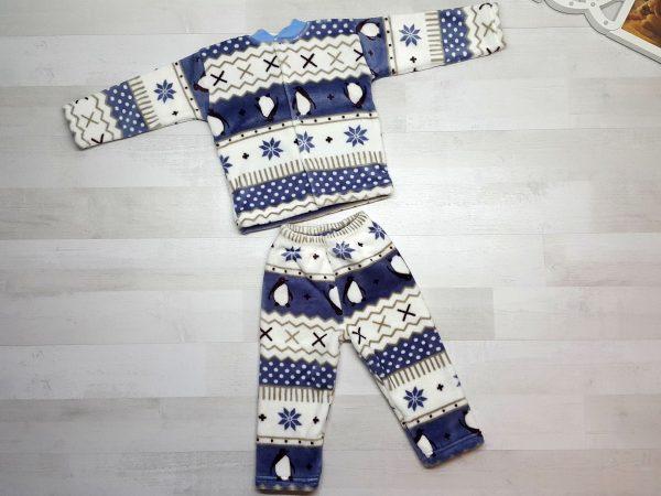 Пижама евромахра синяя с пингвинами