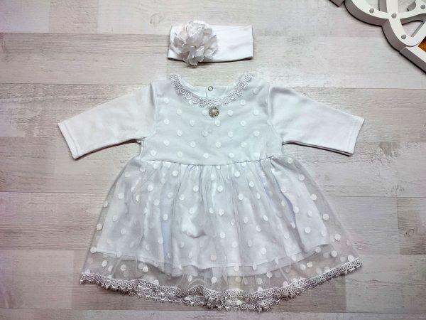 Платье кружевное детское белое 2
