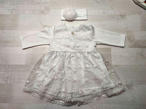 Платье кружевное детское белое