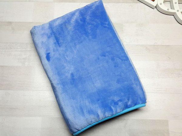 Плед евромахра голубой