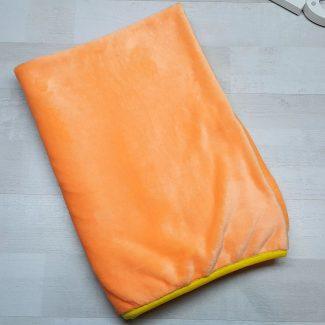 Плед евромахра оранжевый