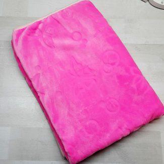 Плед евромахра розовый