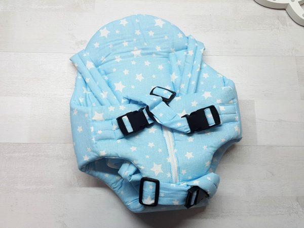 Рюкзак «Кенгуру» с поддержкой голубой
