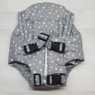 Рюкзак «Кенгуру» с поддержкой серый со звездами