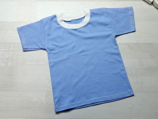 Футболка детская однотонная голубая