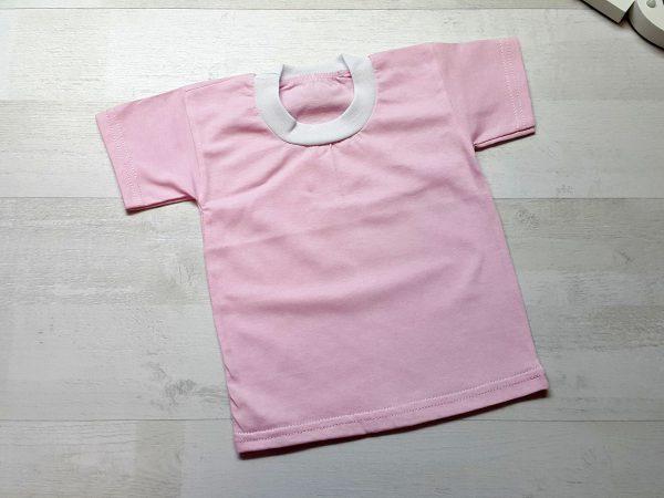 Футболка детская однотонная розовая