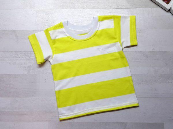 Футболка детская в упаковке желтая