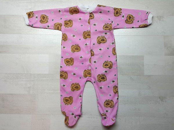 Комбинезон для новорожденного тонкий розовый