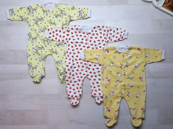 Комбинезон для новорожденных интерлок