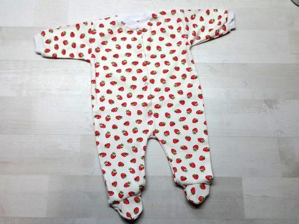 Комбинезон для новорожденных интерлок клубника