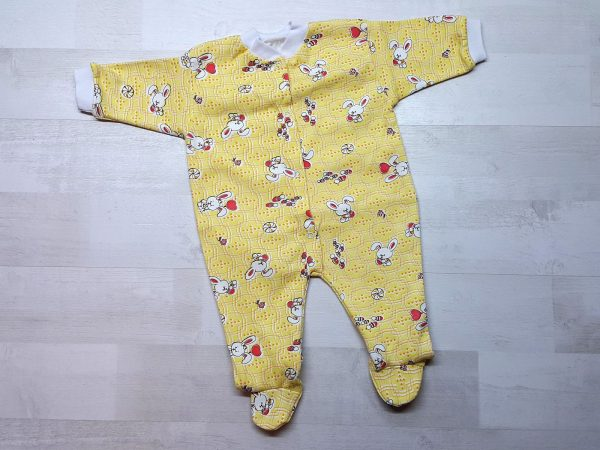 Комбинезон для новорожденных интерлок желтый (2)