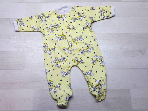 Комбинезон для новорожденных интерлок желтый