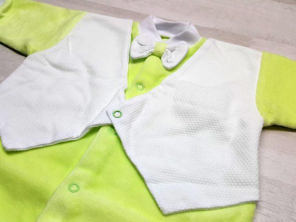 Комбинезон-фрак с жилеткой зеленый 2