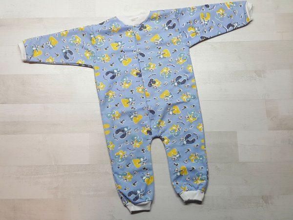 Комбинезон тёплый с открытой ножкой (80-86) голубая