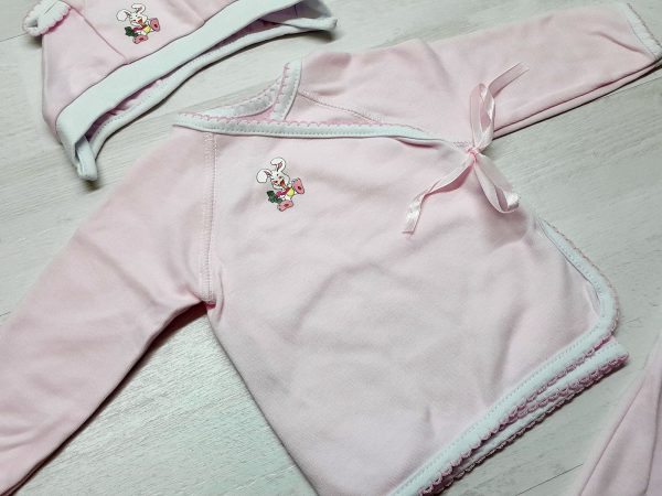 Комплект «Зайка» розовый 2