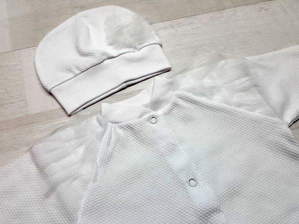 Комплект из кофточки, ползунков и шапочки белый 2