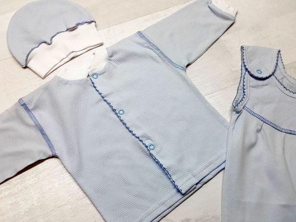 Комплект из ползунков с грудкой голубых 2