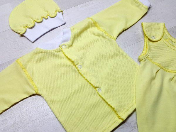 Комплект из ползунков с грудкой желтых 2