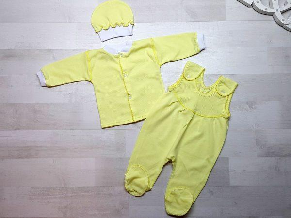 Комплект из ползунков с грудкой желтых
