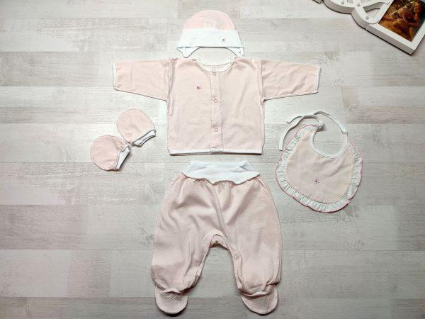Комплект одежды для малышей нежно-розовый