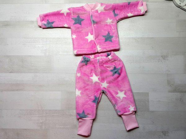 Костюм кофта и штанишки велсофт розовый