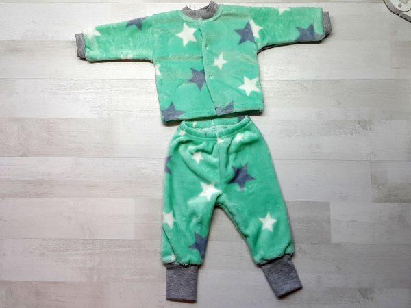 Костюм кофта и штанишки велсофт зеленый
