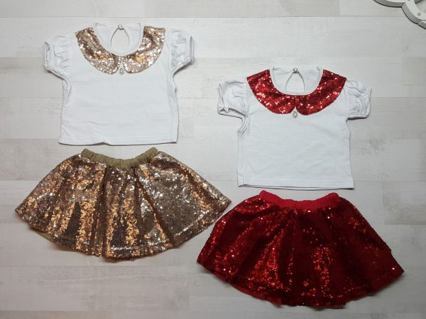 Костюм кофточка и юбка с пайетками
