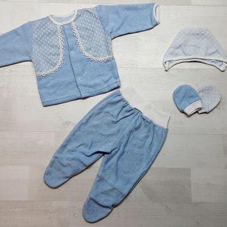 Костюм махровый для мальчика голубой