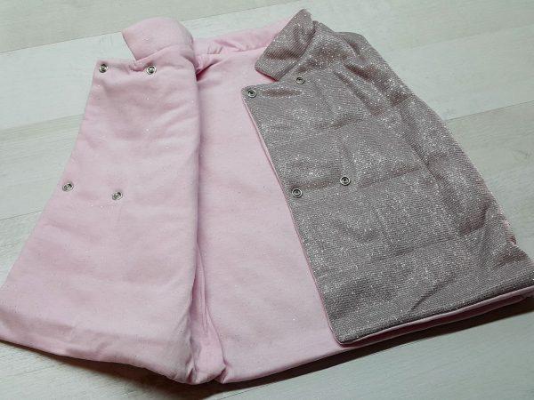 Костюм с жилеткой для девочки розовый 3