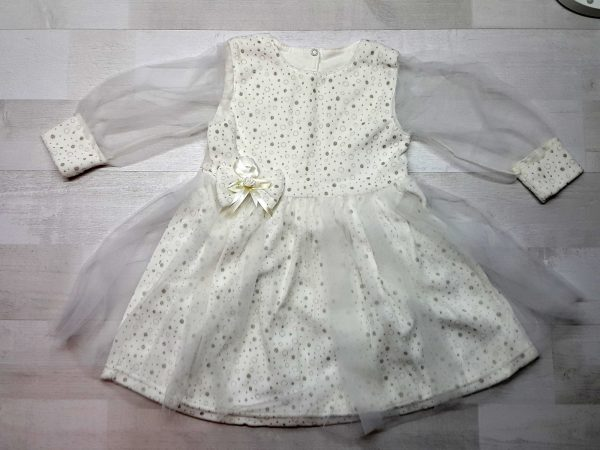 Нарядное платье из велюра бежевое