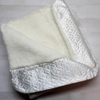 Одеяло-конверт с мехом белое