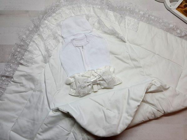 Одеяло с фиксатором белое 3