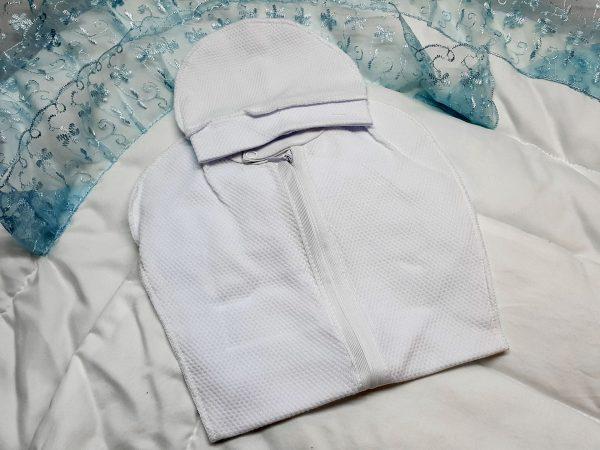 Одеяло с фиксатором голубое 3