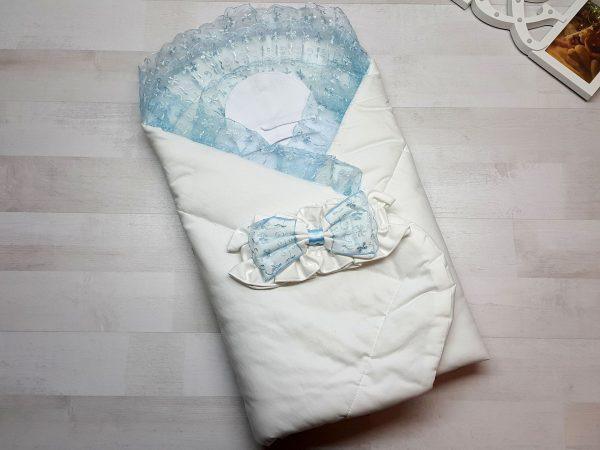 Одеяло с фиксатором голубое
