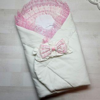 Одеяло с фиксатором розовое