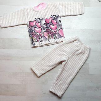 Пижама евромахра мишки с сердечками