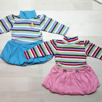 Платье баллон полосатое