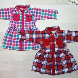 Платье-халат в клетку с поясом