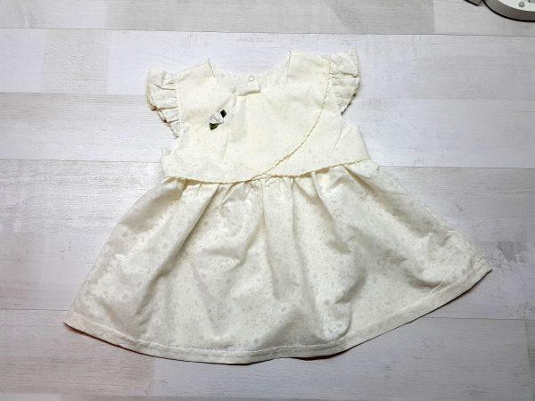 Платье из батиста голубое бежевое