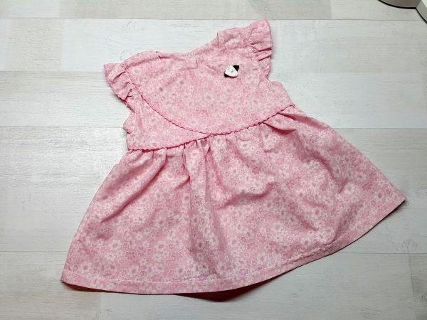Платье из батиста розовое