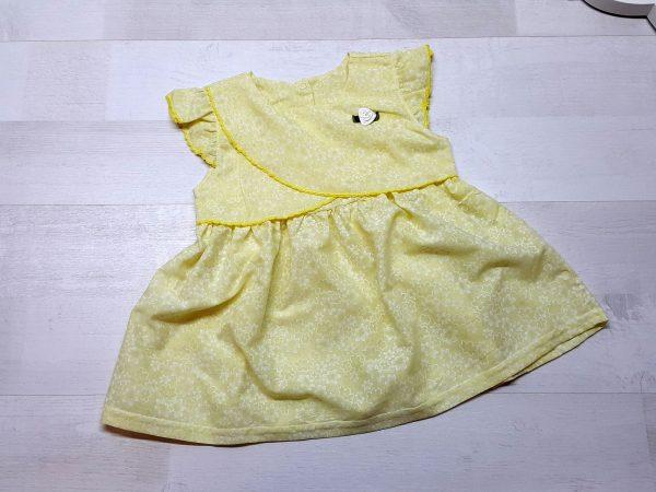 Платье из батиста желтое