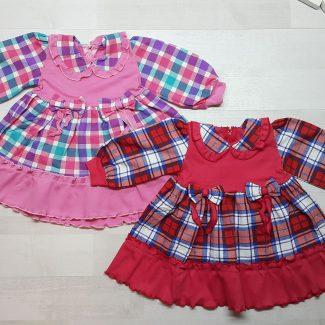 Платье клетчатое с кокеткой
