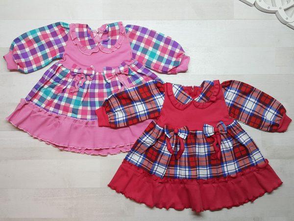 Платье детское в клетку