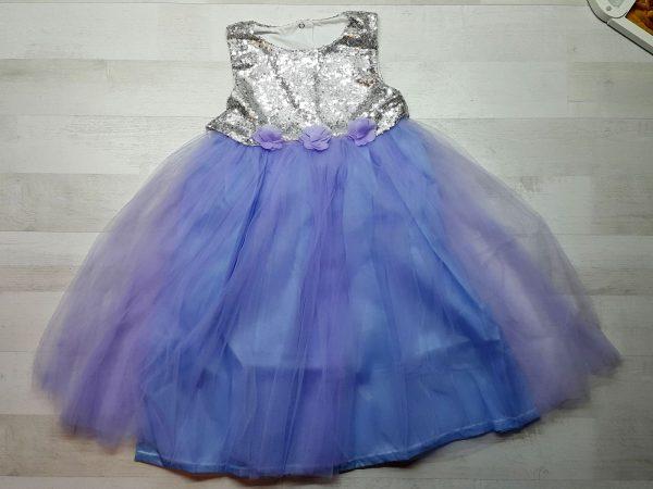 Платье нарядное (5 расцветок) голубое