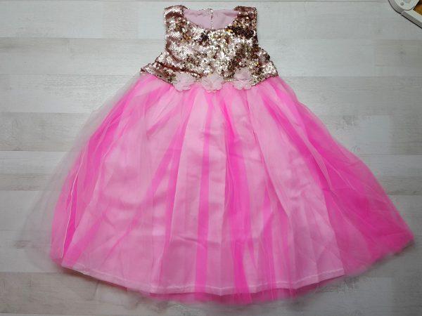Платье нарядное (5 расцветок) розовое
