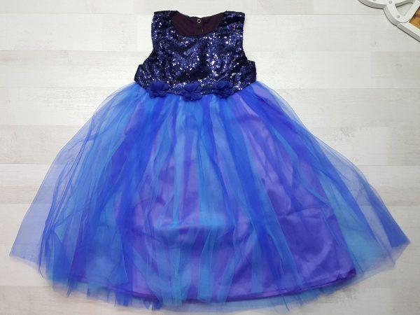 Платье нарядное (5 расцветок) синее