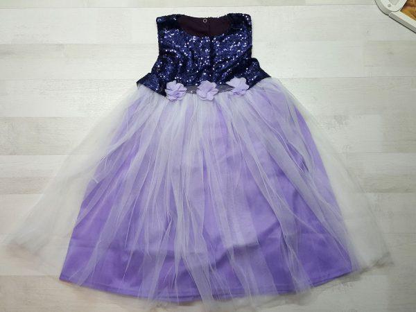 Платье нарядное (5 расцветок) сиреневое