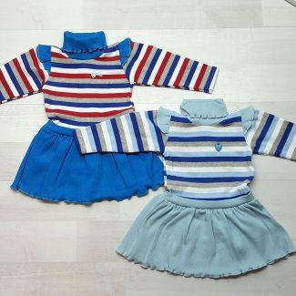 Платье полосатое с крылышками