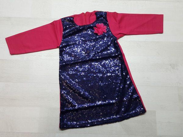 Платье с пайетками синее